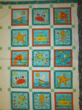 GONE FISHING FROGS FISH PANEL KIDS FABRIC COTTON FABRIC OOP