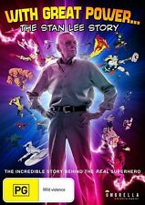 With Great Power: The Stan Lee Story NEW R4 DVD