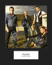 WESTLIFE #4 10x8 SIGNED Mounted Photo Print - FREE DELIVERY