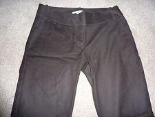"Zara size 8 dark brown trousers, chinos, work, business. Size 36, 28"" leg"