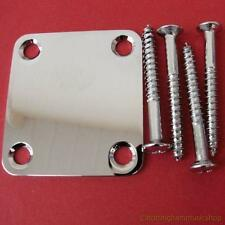 CHROME NECK PLATE SMALL SIZE TL GUITAR NEW 47x50mm