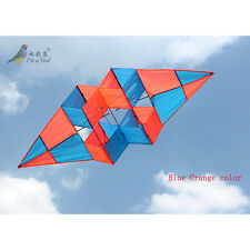 Free shipping NEW power box 3D kite /single line BLUE high Quality for beginner