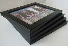 8x10 Picture Frame 4-piece Set, Smooth Finish, 1.25 Inch Wide, Black