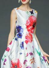 Digital White Multy Flower Print Western Dress For Girl Women Sevenfold