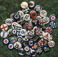MOD 60 x 1 INCH BUTTON BADGES RETRO PARKER SCOOTER JAM JOB LOT LAMBY  LI GP  SX