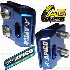 Apico Blue Brake Hose Brake Line Clamp For Yamaha YZ 125 2005 Motocross Enduro