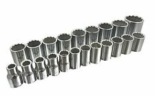 TRUECRAFT 1/2 in. Drive 12pt Metric MM Socket Set 21-Piece Made in USA!