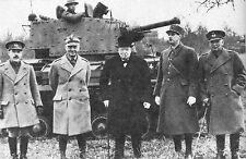 WW2 - Le Gal de Gaulle avec Churchill et le Gal Sikorski