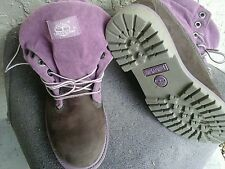 Timberland size 7M US 38 EU roll  top mauve boot brown upper