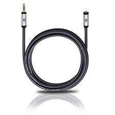 OEHLBACH 3m Audio Kabel Kopfhörer-Verlängerungskabel iPhone iPad Smartphone schw