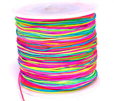 (12Cent / Meter) Nano Cord Paracord 0,5mm Rainbow  ~120 Meter auf Rolle