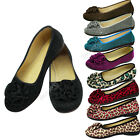 New Ladies Womens Casual Flower Flats Dolly Ballet Ballerinas Flat Shoes Pumps