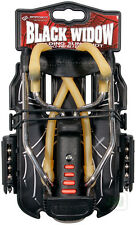 Barnett new BLACK WIDOW Powerful Hunting Slingshot Catapult FREE .38 STEEL AMMO