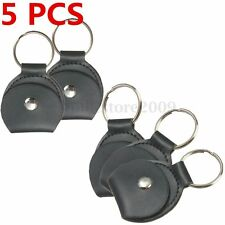 5x Leather Keychain Musical Guitar Pick Holder Guitar Plectrum Package Bag Case