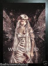 Victoria Frances Negro enmarcado Ofelia imagen de fantasía - 3D 365mm X 465mm