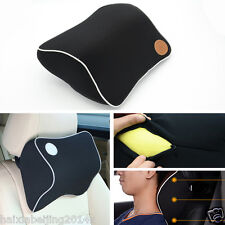 Car Memory Foam Head Neck Rest Cushion Support Cushion Seat Headrest Pad Black