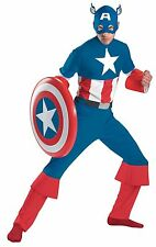 NEW Licensed Marvel Avengers DELUXE ADULT CLASSIC CAPTAIN AMERICA COSTUME XL