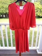 Asos Beautiful Red Flutter Sleeve Figure Flattering Dress