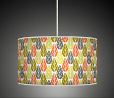 30 cm Leaf Leaves Coral Green Grey Handmade fabric lampshade pendant light 625