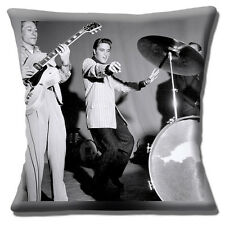 "NEW Elvis 'The King of Rock & Roll' Black & White photo 16"" Pillow Cushion Cover"