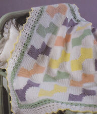 Crochet Pattern ~ Bow Ties For Baby Afghan ~ Instructions