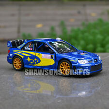 DIECAST METAL 1:36 SUBARU IMPREZA WRC 2007 PULL BACK MODEL CAR TOYS