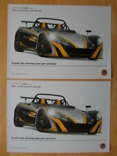 LOTUS 2-Eleven 2x Leaflet Brochures - 2009 - Track day driving just got serious