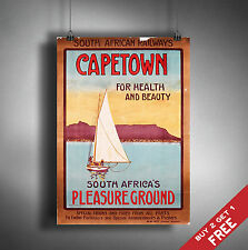 A3 Large CAPE TOWN POSTER Vintage Retro Travel Wall Art Home Decor  SOUTH AFRICA