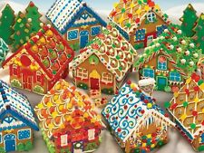 Jigsaw Puzzle Seasonal Christmas Gingerbread Houses 400 pieces NEW Made in USA