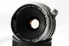 """MINT-"" Canon 28mm F2.8 Leica LTM39 Wide angle Lens, w/Filter, From Japan"