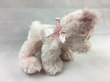 RUSS BERRIE SHINING STARS PINK BEAR BOW PUPPY SOFT TOY