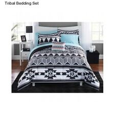 New Tribal Bedding Full Size Comforter White Black Set Bedspread With Sheets Bed