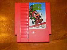 Super Mario Bros. 2 Christmas Edition Red Cart for Nintendo NES