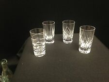 Set of 4 Cut Crystal Vodka/ Shot glasses by Faberge