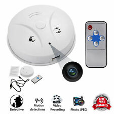 Mini Spy Camera Espion Cam Smoke Alarm Detector  DVR Nanny Hidden Motion