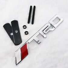 New!!! 3D Metal Chrome Silver TRD Front Grille Grill Badge Emblem Fit for Toyota