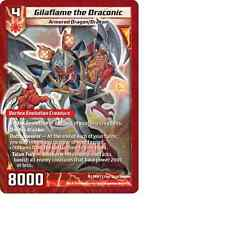Kaijudo X1 GILAFLAME THE DRACONIC Duel Day Foil Promo 15 PRM 7 Duel Masters 2014