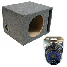 "Car Audio Single 12"" Vented Port Subwoofer Enclosure Speaker Sub Box Amp Kit"