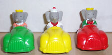 1992 Arbys Babar The Elephant Racers Complete set of 3 Kids Happy Meal Toy