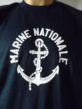 Tee-shirt marine nationale ancien logo obsolète XS vintage