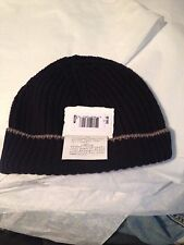 Brunello Cucinelli 100% cashmere navy hat beanie medium - GUARANTEED AUTHENTIC