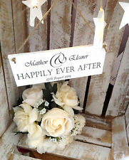042 PERSONALISED HAPPILY EVER AFTER WEDDING CHIC PLAQUE