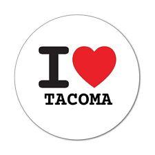 I love TACOMA - Autocollants - 6cm