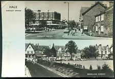 MANCHESTER - HALE ASHLEY ROAD ASHLEY HOTEL AND BOWLING GREEN - RP POSTCARD 1977