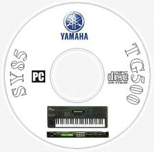 Yamaha SY-85 TG-500 Sounds Patches Manual MIDI Software & Editors CD  SY85 TG500