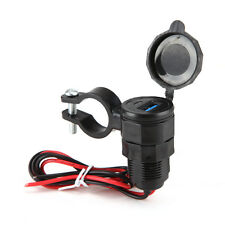 Motorcycle Dual USB Phone Moto Power Supply Charger Socket Waterproof Adapter