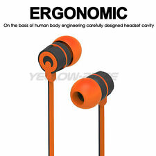 Super Bass 3.5mm In-Ear Earphone Headphone Earbud Headset w/Mic - Orange