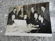 1946 orig press photograph  SUBJECT ?? YOUR OWN CAPTION   FILM CENSORS MEET ?!