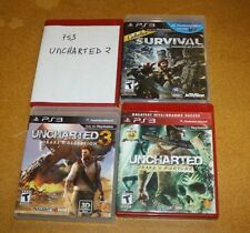 PS3 4 GAME LOT UNCHARTED DRAKES FORTUNE, 2 & 3, SHADOWS OF KATMAI FREE SHIPPING