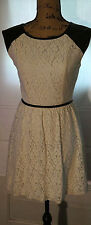 SPEECHLESS Womens 50's Inspired Lace and Faux Leather Dress Size S